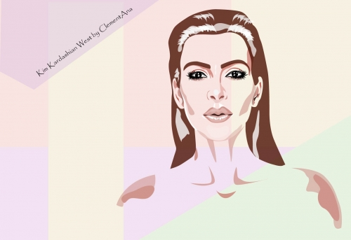 kim kardashian illustration