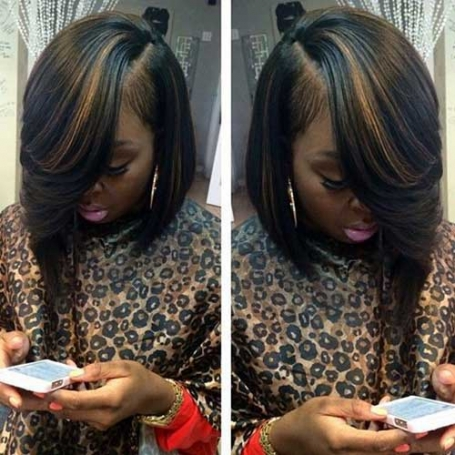 6. Long Bob Hairstyle for Black Women