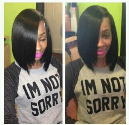 8. Long Bob Hairstyle for Black Women
