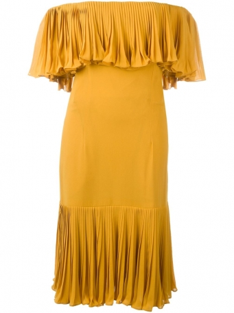 yellow off shoulder dress, summer dress