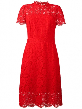 diane von furstenberg lace detail dress